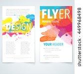 abstract vector brochure logo... | Shutterstock .eps vector #449968498