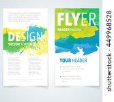 abstract vector brochure... | Shutterstock .eps vector #449968528