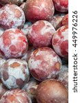 plums on the market on the... | Shutterstock . vector #449976226