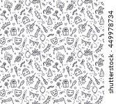 black carnival symbols in... | Shutterstock . vector #449978734