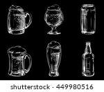 set of icons beer in different... | Shutterstock . vector #449980516