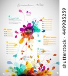 creative  color rich cv  ... | Shutterstock .eps vector #449985259