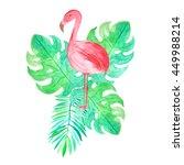 set of watercolor hand painted... | Shutterstock . vector #449988214