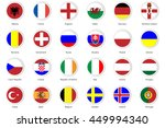 set of flat buttons badge of... | Shutterstock .eps vector #449994340