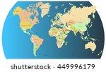 world map vector illustration   Shutterstock .eps vector #449996179