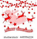 merry christmas santa claus and ... | Shutterstock .eps vector #449996224