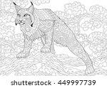 stylized hunting wildcat  lynx  ...   Shutterstock .eps vector #449997739