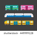 set of public transport vector | Shutterstock .eps vector #449999128