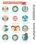 symptoms of the disease...   Shutterstock .eps vector #450002416