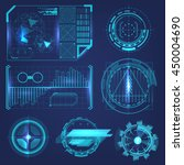 hud elements of high technology ... | Shutterstock .eps vector #450004690