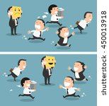 boss changing his mood from bad ... | Shutterstock .eps vector #450013918