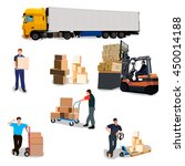 moving house  moving office  box | Shutterstock .eps vector #450014188