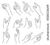 hand collection. vector line... | Shutterstock .eps vector #450015649