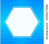 geometric triangle background... | Shutterstock .eps vector #450017008