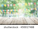 empty wooden table with party... | Shutterstock . vector #450017488
