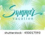 summer vacation  hand written... | Shutterstock .eps vector #450017593