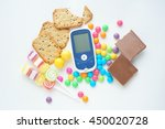 glucose meter with unhealthy... | Shutterstock . vector #450020728
