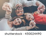 happy family concept. top view... | Shutterstock . vector #450024490