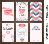 set of romantic cards | Shutterstock .eps vector #450026359