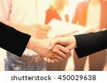 hands businesswoman...   Shutterstock . vector #450029638