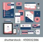 vector stationery template... | Shutterstock .eps vector #450032386