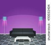 modern living room   purple | Shutterstock .eps vector #450032404