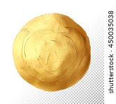 circle gold texture. abstract... | Shutterstock .eps vector #450035038