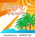 vector illustration happy... | Shutterstock .eps vector #450039760