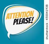 attention please retro speech...   Shutterstock .eps vector #450041938