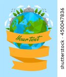 green planet earth  tourism ... | Shutterstock .eps vector #450047836
