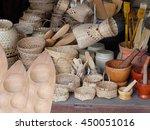 basket wicker is thai handmade.   Shutterstock . vector #450051016