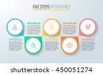 five steps infographics.... | Shutterstock .eps vector #450051274