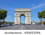 arc de triomphe paris  france   ... | Shutterstock . vector #450052096