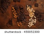 Various Nuts And Chocolate. ...