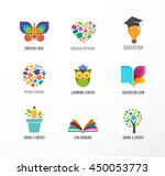 education icons  elements set.... | Shutterstock .eps vector #450053773