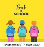 poster with students  kids ... | Shutterstock .eps vector #450053830