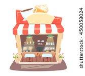 cafe shop interior. street... | Shutterstock .eps vector #450058024