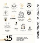 vector flat city architect...   Shutterstock .eps vector #450063070
