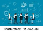flat vector people business... | Shutterstock .eps vector #450066283