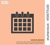 calendar icon  | Shutterstock .eps vector #450075100