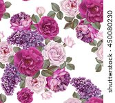 floral seamless pattern with... | Shutterstock . vector #450080230