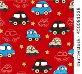 seamless pattern with toy cars. ... | Shutterstock .eps vector #450081238