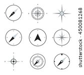 compass flat icons collection.... | Shutterstock .eps vector #450081268