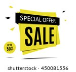 sale banner on a abstract gray... | Shutterstock .eps vector #450081556