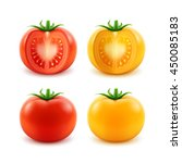 Vector Set Of Big Ripe Red...