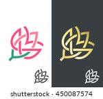 vector flower  golden  color... | Shutterstock .eps vector #450087574