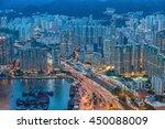 view point fron sky100 hongkong | Shutterstock . vector #450088009