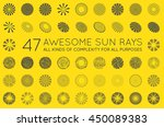 set of sunburst vector rays of... | Shutterstock .eps vector #450089383