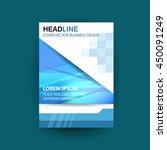 vector design for cover report... | Shutterstock .eps vector #450091249