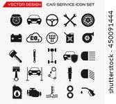 car service icon set  vector... | Shutterstock .eps vector #450091444